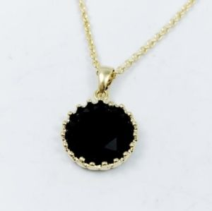 Rich Plum Crystal Drop Necklace
